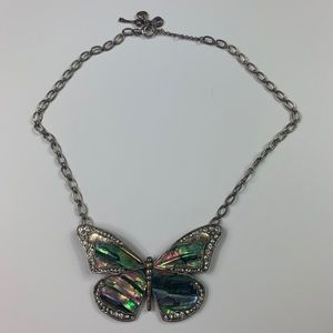 Rare fossil butterfly necklace